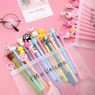 Combo 20 bút bi nước hình thú siêu cute túi zip Unicorn -W144-K7T1 thumbnail