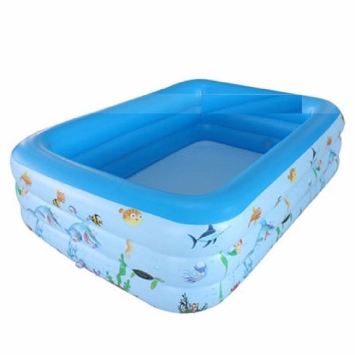 Bể bơi 1m3 - 3 tầng lớp chống trượt dành cho bé yêu