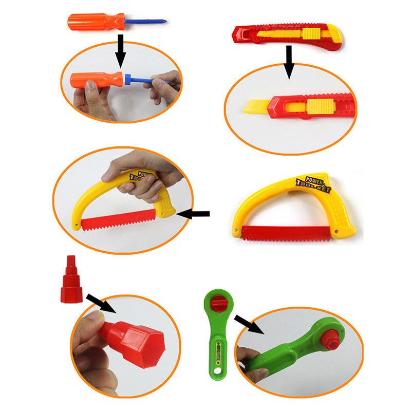 Bộ đồ chơi mô phỏng dụng cụ sửa chữa nhà cho trẻ em