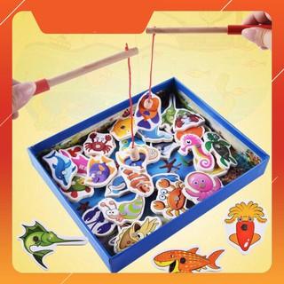 [CÓ SẴN] Bộ câu cá gỗ 32 sinh vật biển