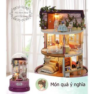 Mô hình nhà búp bê 3 tầng_Siêu dễ thương_Quà tặng ý nghĩa