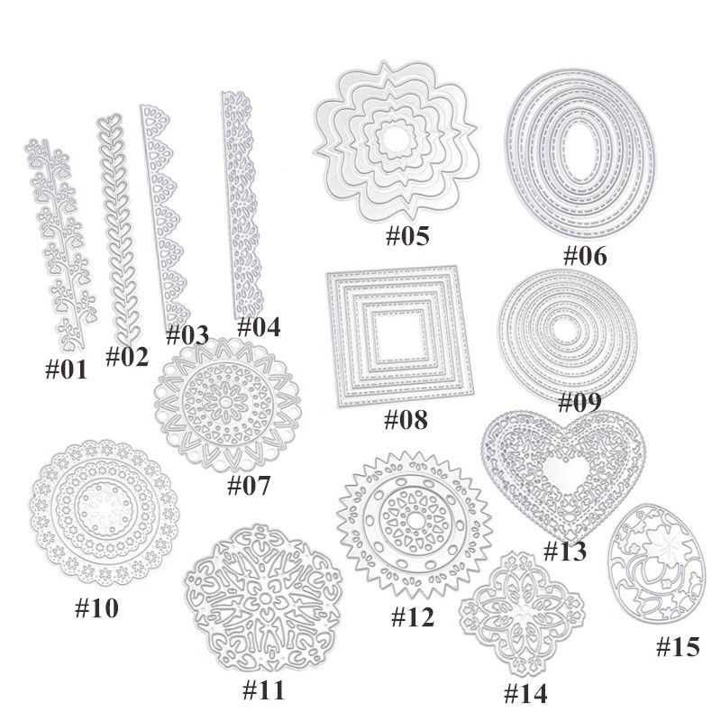 ♥superH♥Flowerstencil New Practical Gadget Craft Album DIY Scrapbook Metal Cutting Dies Stencils Flower Heart Paper Card