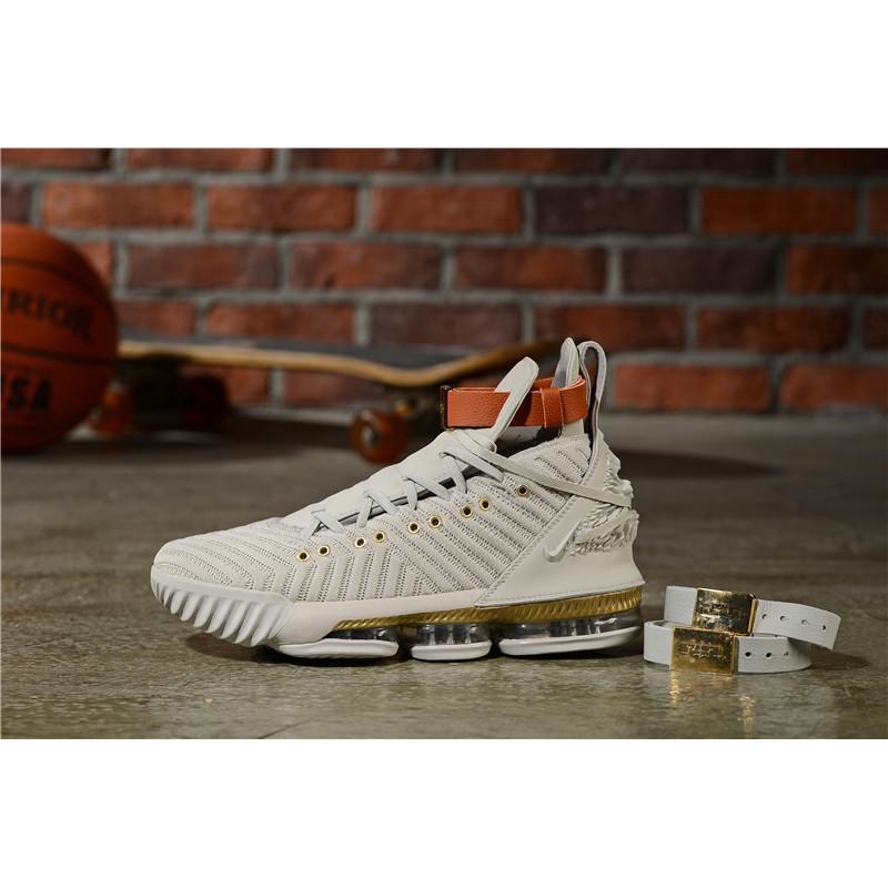 Nike James 16th generation hardcover edition woven air cushion basketball shoes male lion relief Feeling comfortable
