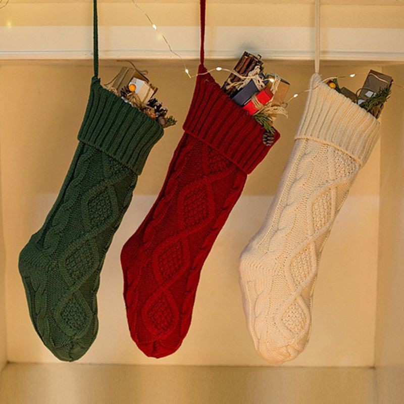 Candy Socks Christmas Stockings Gift Filler Knitted Decoration