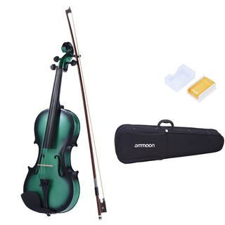 ammoon 1/2 Size Basswood Violin Maple Scroll Fingerboard Pegs Aluminum Alloy Tailpiece with High Quality Rosin Bow Violi