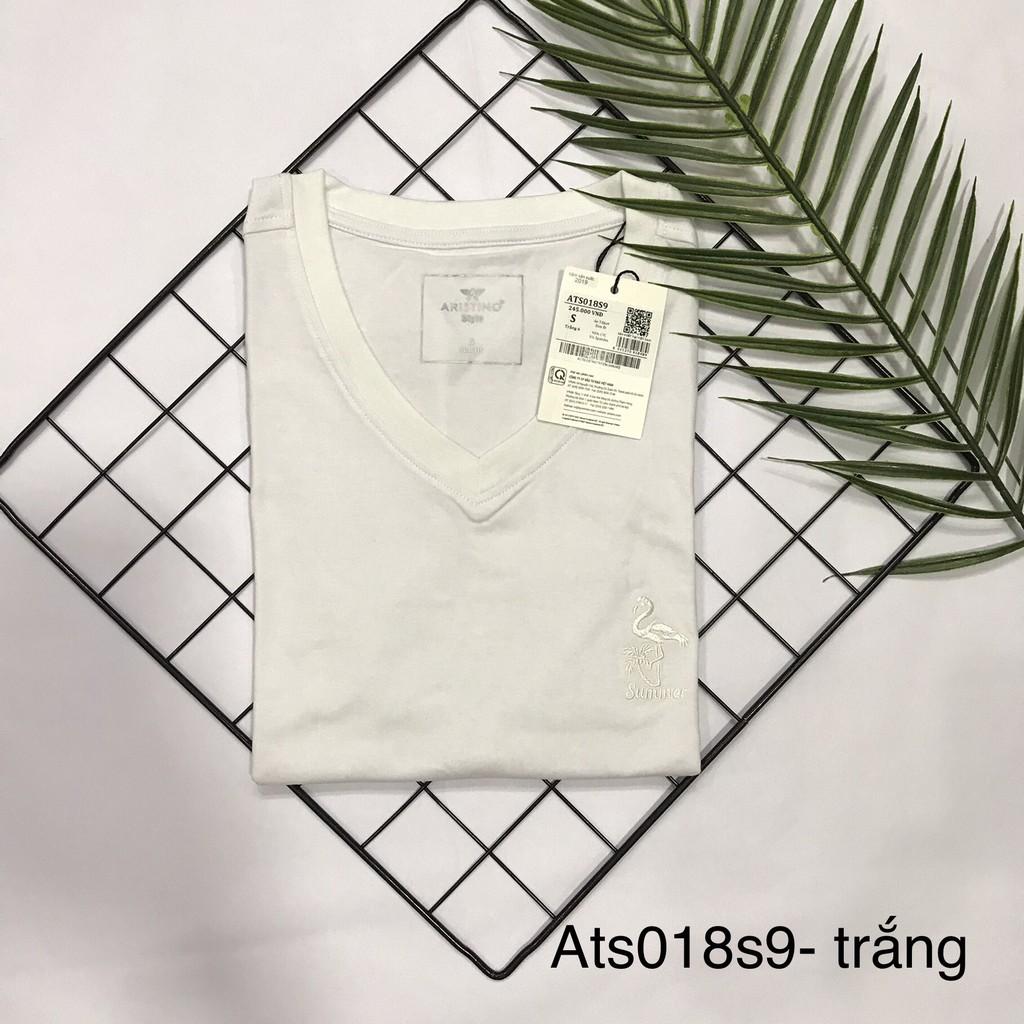 Áo thun nam mềm mát Aristino ats018S9 Slim 4 màu