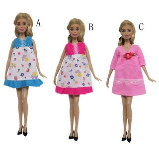 SUN11❤ Baby Kids Handmade Barbie Maternity Mommy Dress Clothes Dressup for