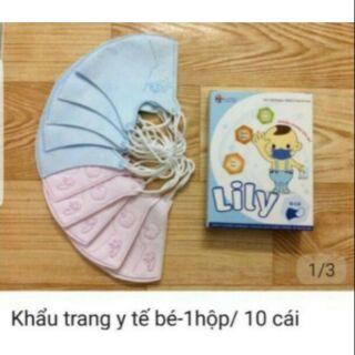 Khẩu trang em bé Lily chất lượng Nhật Bản cho bé từ 1-3 tuổi