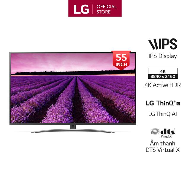 Smart Tivi LG NanoCell 55 inch 4K UHD 55SM8100PTA - Hàng Chính