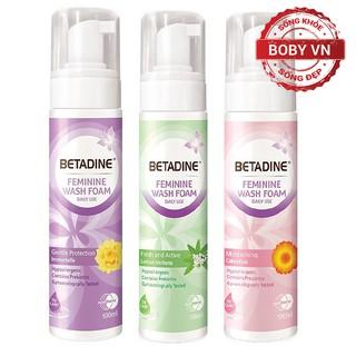 Bọt vệ sinh phụ nữ Betadine Feminine Wash Foam - Chai 100ml - Chính hãng thumbnail