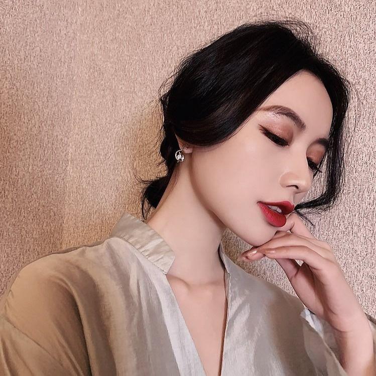 Korean-StyleINS2020New Trendy Cat Earrings Korean Graceful Online Influencer Earrings925Silver Pin Eardrops High-Grade Earrings for Women