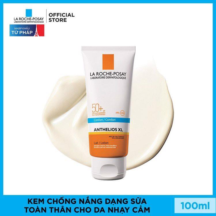 Kem chống nắng dạng sữa giúp bảo vệ d.a trước tác hại của UVB& UVA SPF 50+ LaRoche-Posay