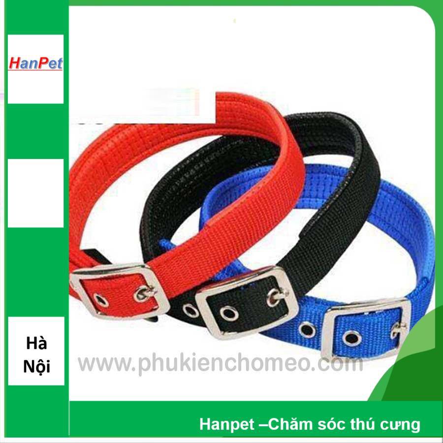 SP954 - Vòng cổ đệm khóa xịn (hanpet 4711461) vòng cổ chó 1.5 (3-7kg)
