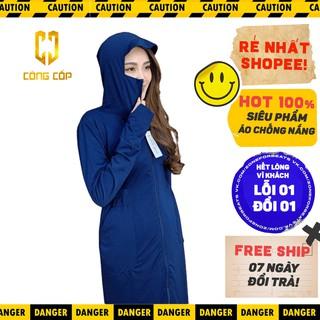 [ free ship ]áo chống nắng nữ áo chống nắng toàn thân cao cấp ( chống tia UV tuyệt đối ) mặc siêu mát. thumbnail
