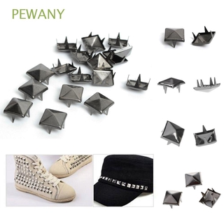 PEWANY Alloy Pyramid Rivets 8mm Square Rivet Four Claw Nail Sewing Rivet DIY Leather Craft 100pcs Pyramid Claw Beads Punk Studs Nailheads Rivets Spikes DIY Rivet/Multicolor