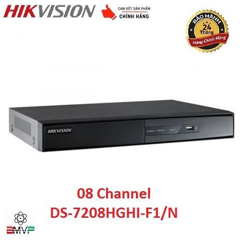 Đầu ghi hình 8 kênh Turbo HD 3.0 Hikvision DS-7208HGHI-F1/N  - Hàng chính hãng