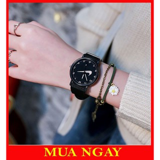 Đồng hồ nam nữ hoa cúc thời trang dây dù cực đẹp DH105