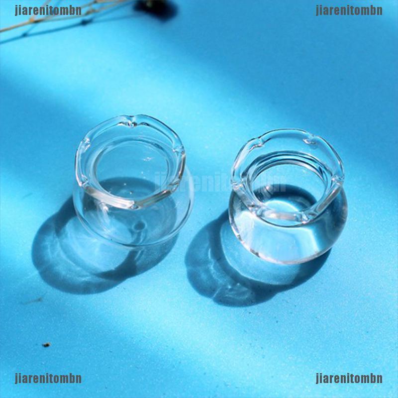 (jiarenitombn)1Pcs Dollhouse Miniature Mini Fish Tank Mini Glass Bowl Doll House Accessories