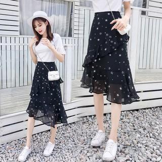 [ Sẵn hàng ] – Chân váy voan hình sao Ulzzang vạt chéo – kèm ảnh thật – may29th.shop