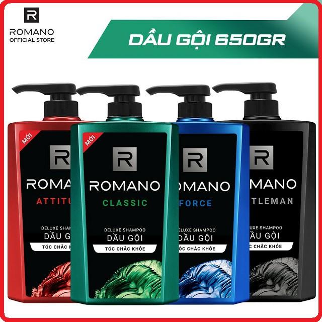 Dầu Gội ROMANO Hương Nước Hoa Cho Tóc Chắc Khỏe 650gr