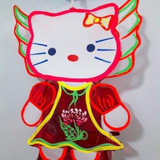 Lồng đèn Trung thu giấy kiếng hình Hello Kitty có cánh