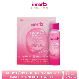 Hình ảnh Hộp 6 chai nước uống Collagen Vitamin C sáng da InnerB Glowshot (50mlx6)-0