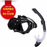 Bộ mặt nạ lặn ống thở gắn được Gopro SJCAM mắt kính cường lực (B-Đen)POPO Collection