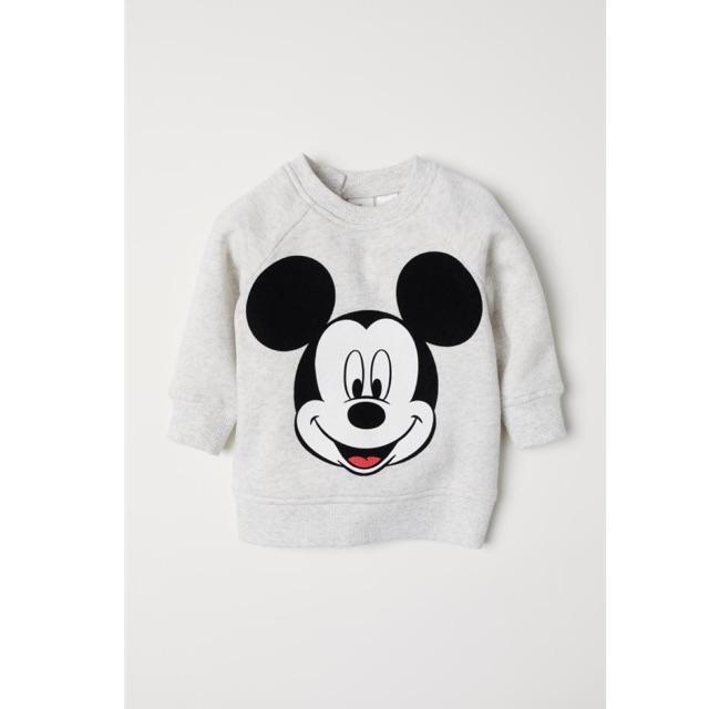Áo Nỉ Bé Trai Mickey To Ghi