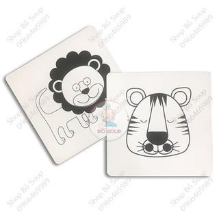 Flashcard cho bé, thẻ học Glenn Doman kích thích thị giác cho trẻ sơ sinh Shop Bố Soup (Thẻ đen trắng) 3