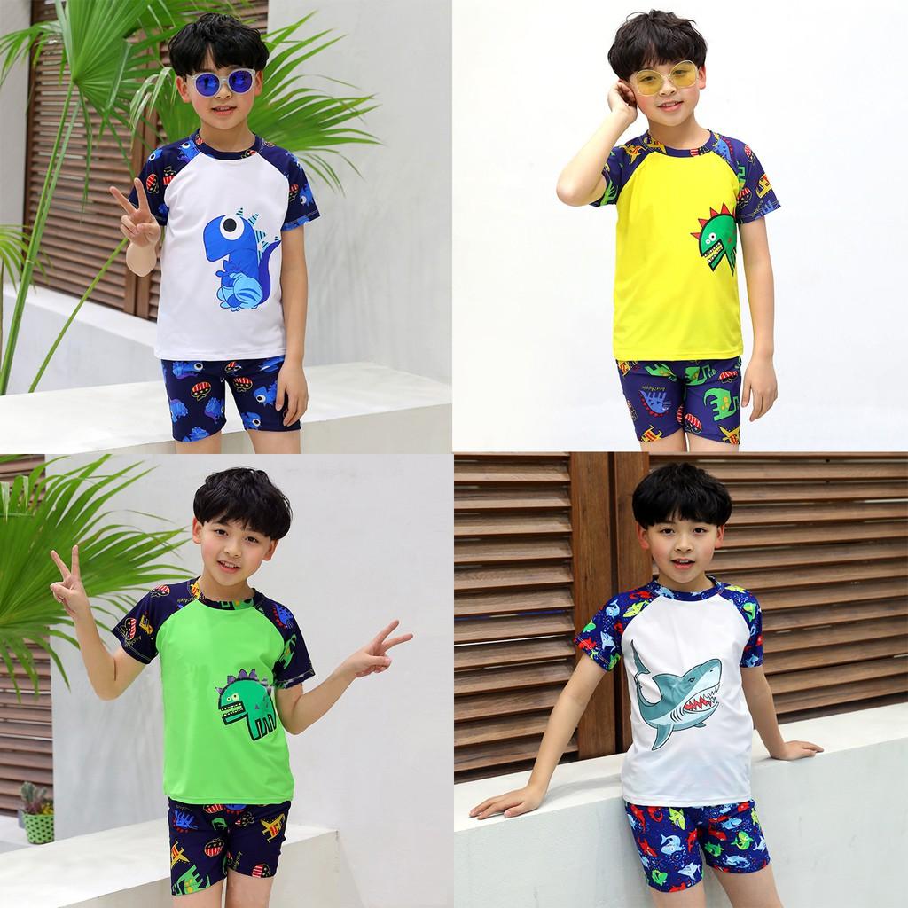 Đồ bơi bé trai, bộ đồ bơi cho bé họa tiết năng động đủ size chiều cao