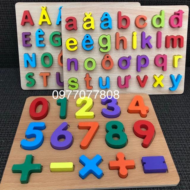 [ RẺ VÔ ĐỊCH ] Combo 3 bảng chữ tiếng việt và số