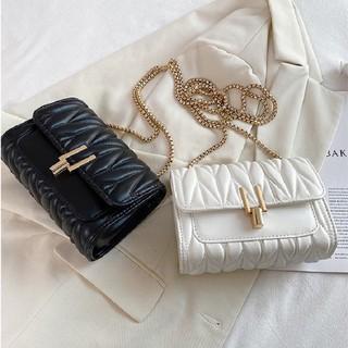 Túi đeo chéo nữ trần trám bút chì thời trang size 19 khóa chữ Y đẹp hàng quảng châu 2021 - Lorien