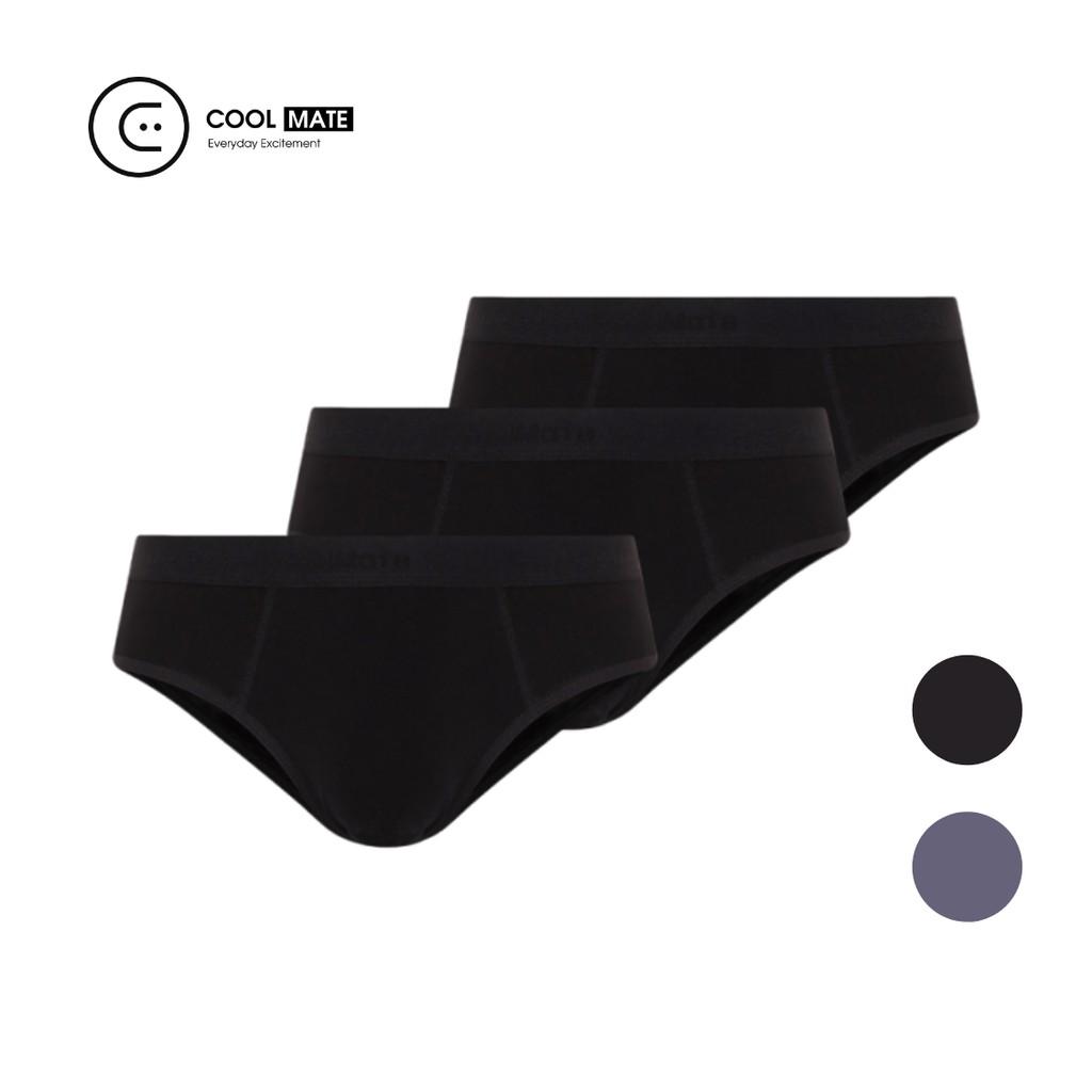 Combo 3 quần lót nam Brief Modal (gỗ sồi) mềm mại thương hiệu Coo