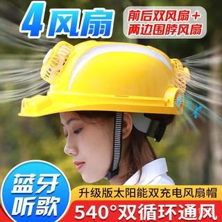 Mũ bảo hiểm có quạt Bluetooth nghe nhạc an toàn và mát mẻ sẽ tỏa sáng vào ban đêm thumbnail