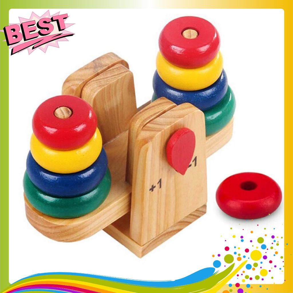 Cân xếp tháp gỗ toán học cho bé- Phát triển tư duy cho bé