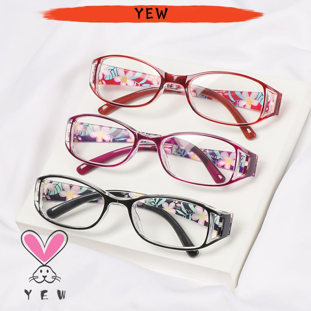 🌟YEW🌟 Fashion Foldable Reading Eyeglasses Radiation Protection Folding Presbyopia Eyewear Anti-blue Light Glasses Printing Vision Care Vintage Classic Men Women Computer Goggles/Multicolor