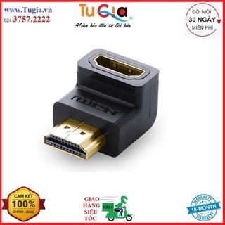 [Mã ELFLASH5 giảm 20K đơn 50K] Đầu nối HDMI to HDMI 1 đầu đực 1 đầu cái bẻ 90 độ, bẻ lên Ugreen 20109 Hàng Chính Hãng
