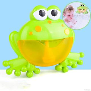 BABYKING Baby Cute Bath Bubble Machine Big Frogs Automatic With Music Water Bath Toys Educational Toy