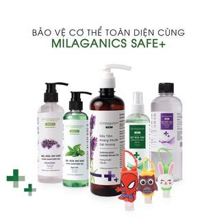 Rửa Tay Khô Hương Bạc Hà & Oải Hương Milaganics Safe+ Dạng Gel & Xịt (Chai 100 & Chai 250ml)