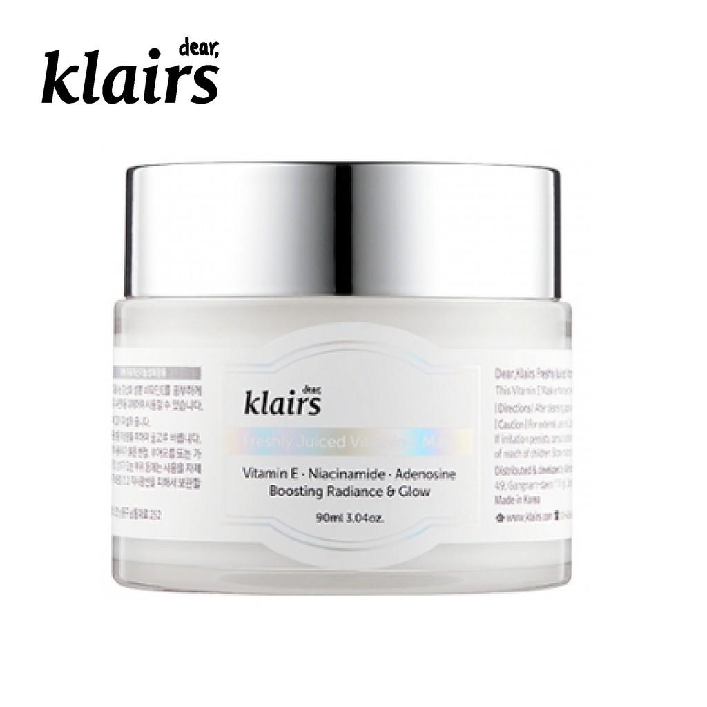Mặt nạ ngủ dưỡng da Dear, Klairs Freshly Juiced Vitamin E Mask 90ml