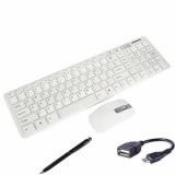 Bộ Bàn phím và chuột không dây KGR (Trắng) + Tặng 1 bút cảm ứng và 1 cáp OTG V0134