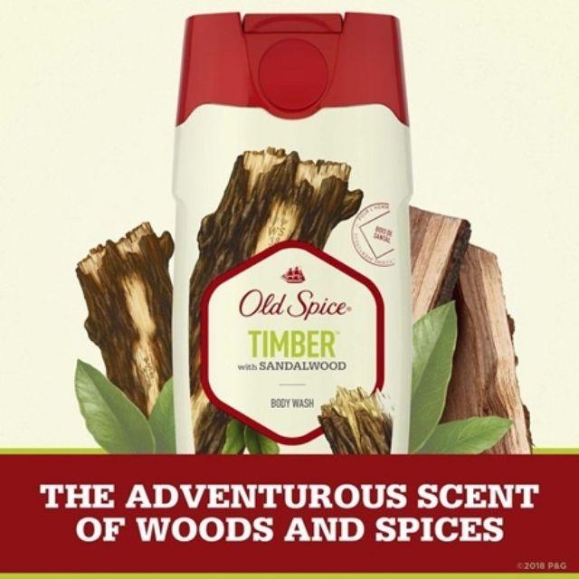 USA] Sữa tắm nam Gel Old Spice Timber With Sandalwood 473ml hương gỗ + Bạc  hà - Mỹ   Shopee Việt Nam