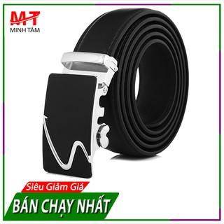 Thắt Lưng/ Dây Nịt Nam Da Cao Cấp May 2 Viền Minh Tâm MT10603 (Bạc or Vàng)