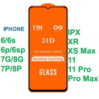 Đã có iphone 12 Kính cường lực Full Màn 21D 6 6plus 6s 6s plus 6 7 7plus 8 8plus x xs xs max 11 11 pro 11 promax thumbnail