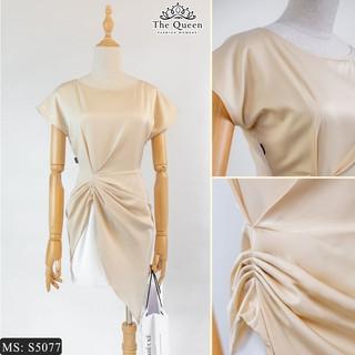 Set áo kiểu nhún eo tà chéo quần short trắng S5077 sành điệu (Video quay bởi THE QUEEN FASHION) thumbnail