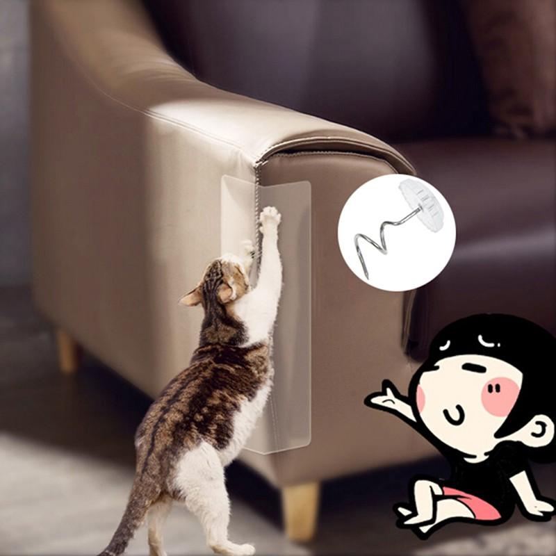 2Pcs/set Cat Furniture Sofa Seat Protector With Nail Guard Mat Pet Cat Post