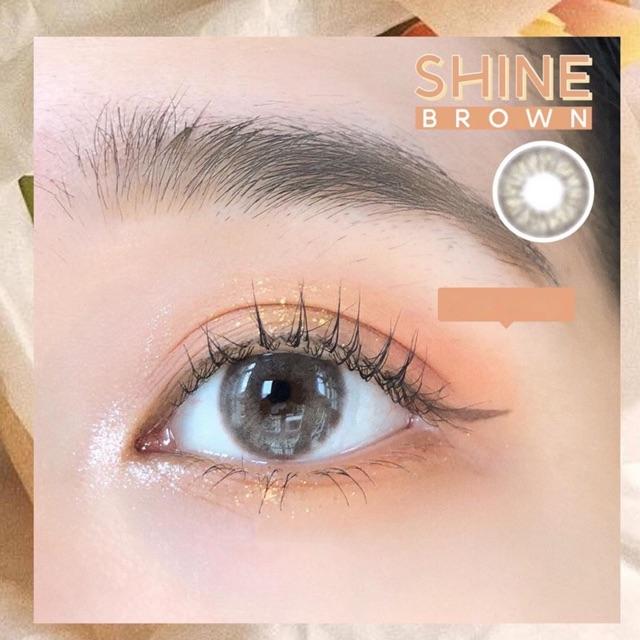 Kính áp tròng SHINE BROWN- NÂU SỮA TÂY