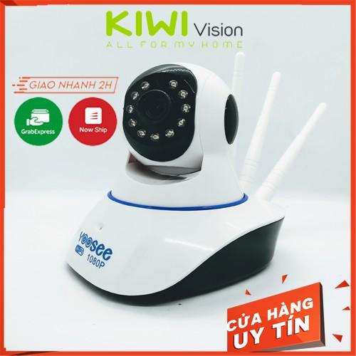 Camera Wifi  tặng thẻ nhớ 32g IP Yoosee 3 râu 2.0 đàm thoại hai chiều giám sát ngày đêm trong nhà