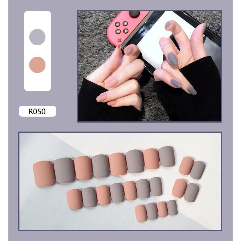 Bộ 24 móng tay giả cực xinh (kèm keo - dùng nhiều lần - Mã R041 - R052)