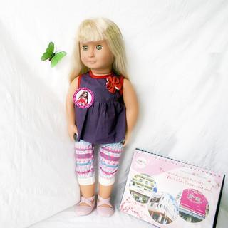 Búp bê Mỹ Cao cấp Aria 46cm – Ari Our Generation 18 inch Doll (Thanh lý tồn kho,dơ,dính mực, kèm đồ và giày ngẫu nhiên)